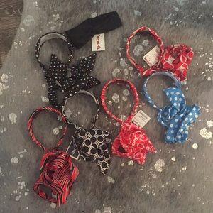 Bundle Hair accessories, headband ties. 7.